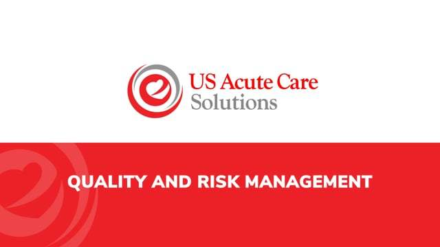 Quality and Risk Managment