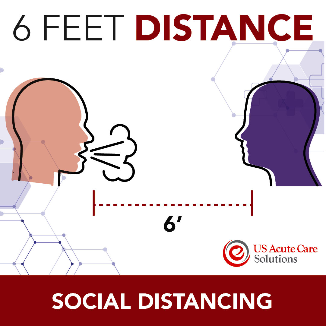 6 Feet Distance Graphic, Social Distancing